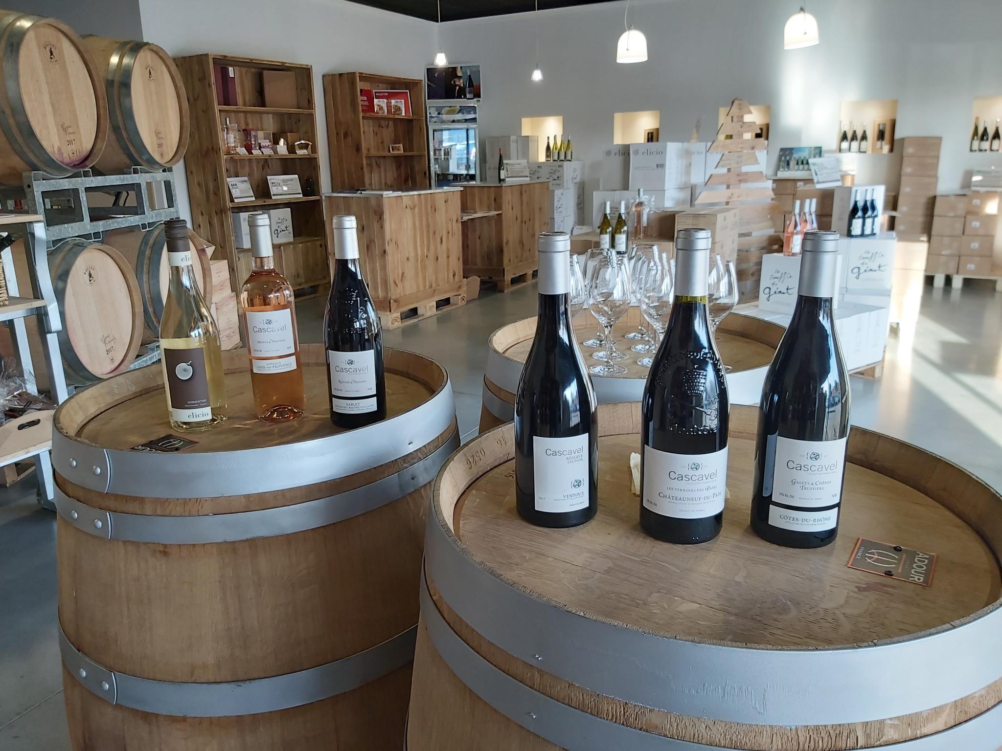 Mise en scène vins Cascavel et Elicio