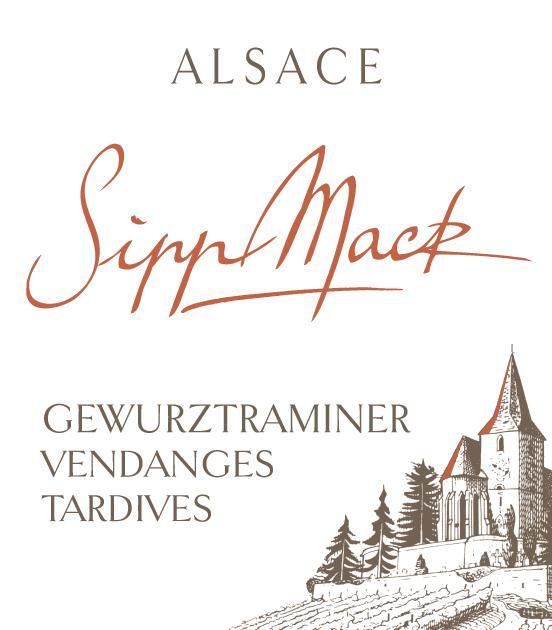 Sipp Mack Alsace Gewurztraminer Vendanges Tardives Lucie Marie 2017 FR-BIO-01