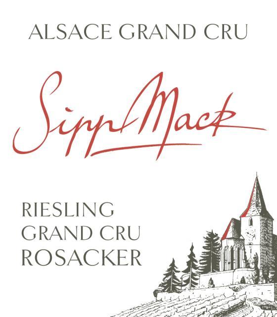 Sipp Mack Alsace Riesling Grand Cru Rosacker 2014 FR-BIO-01