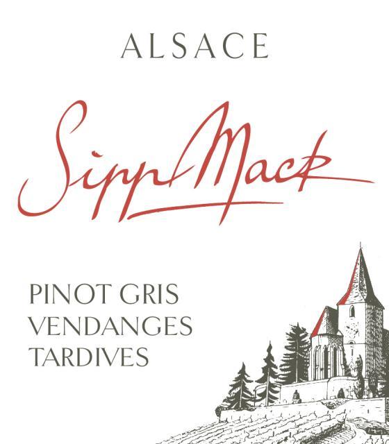 Sipp Mack Alsace Pinot Gris Vendanges Tardives Amélie 2015 FR-BIO-01
