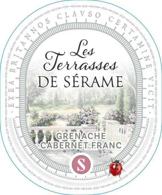 Terrasses de Sérame Grenache / Cabernet Franc, IGP Pays d'Oc, Rosé, 2020
