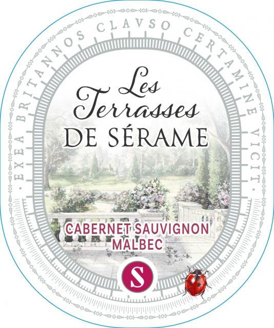 Terrasses de Sérame Cabernet Sauvignon / Malbec, IGP Pays d'Oc, Rouge, 2020
