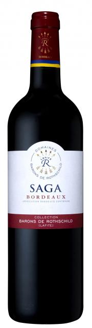 SAGA R Bordeaux red
