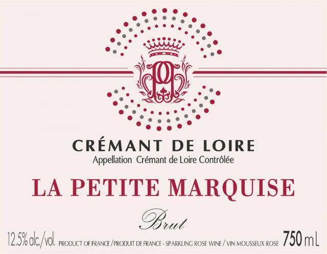 Cremant de Loire Brut Rose La Petite Marquise