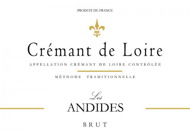 Cremant de Loire Brut Rose Les Andides