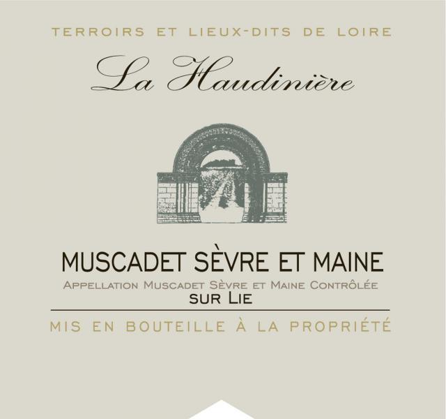 Muscadet Sevre et Maine sur Lie Blanc Lieu Dit La Haudiniere