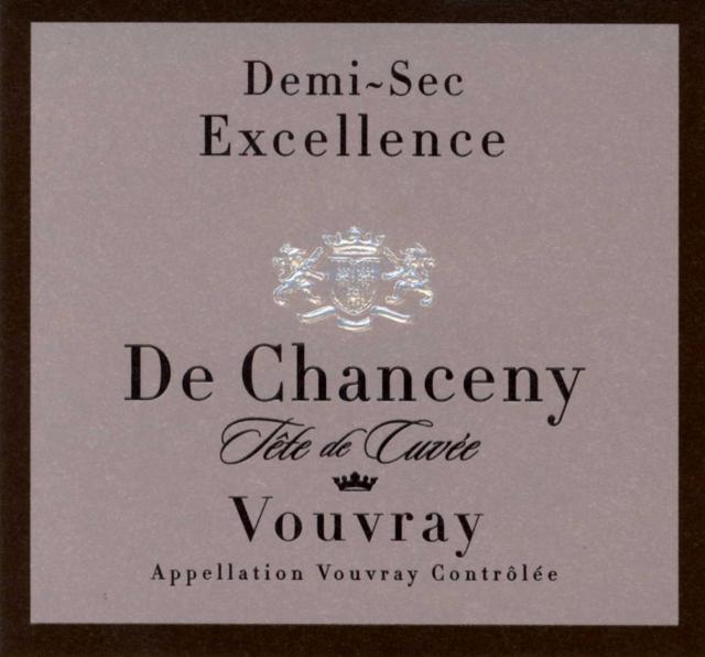 Vouvray Demi Sec Excellence De Chanceny Millesime