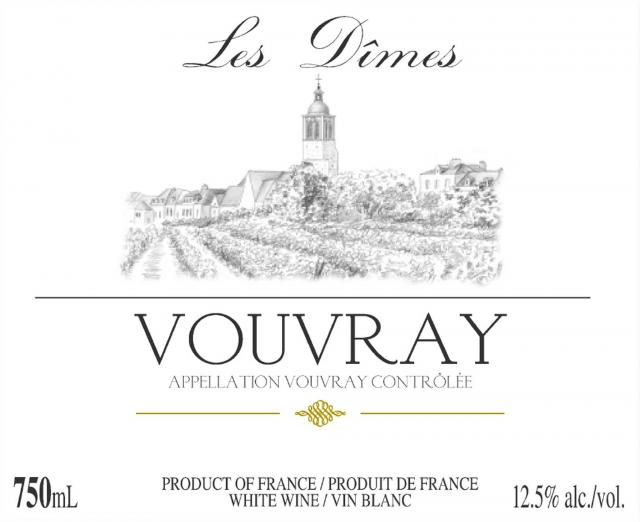 Vouvray Off Dry Les Dimes