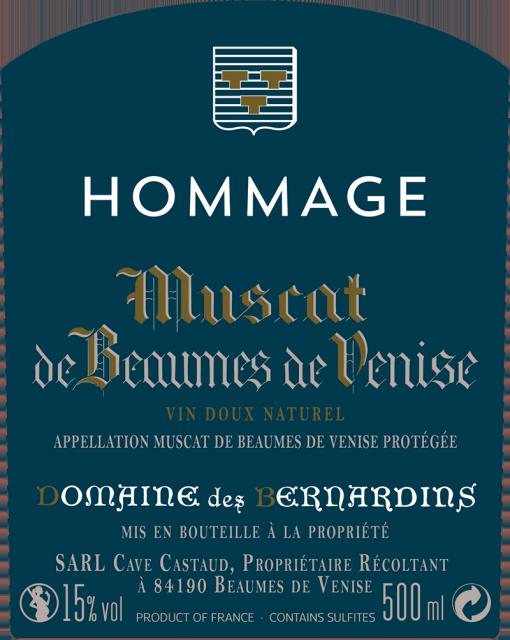 Bernardins Hommage etiquette