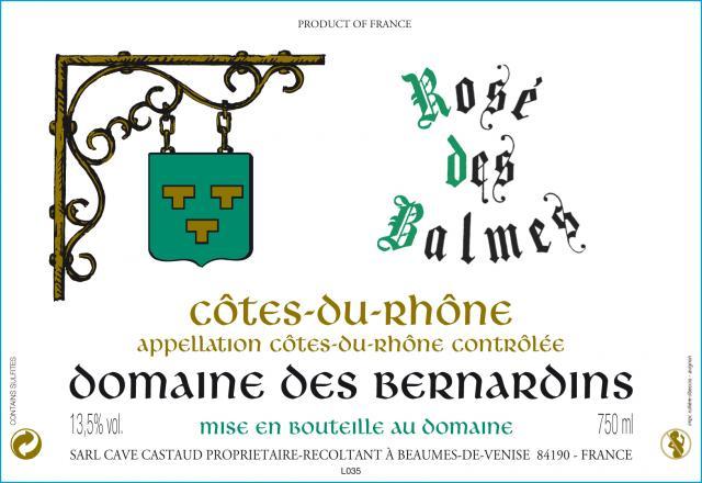 Domaine des Bernardins   Rosé des Balmes CDR