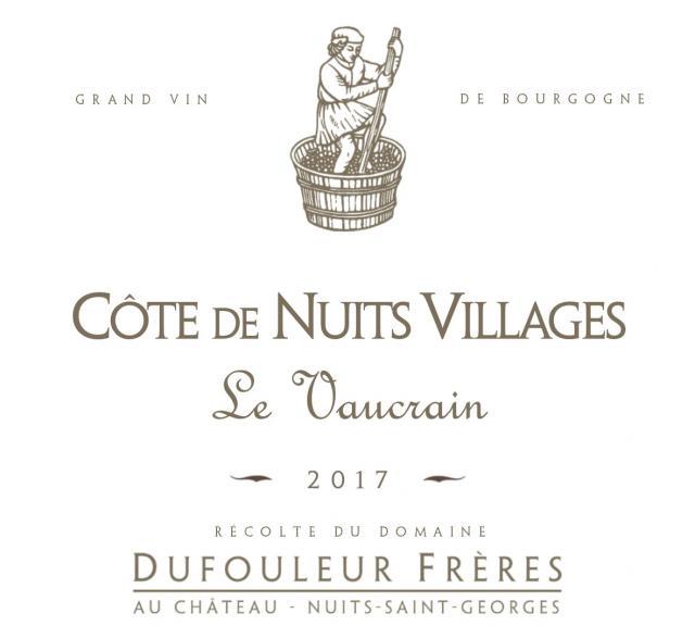 DF   Côte de Nuits Villages Le Vaucrain 2017