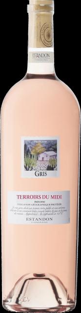 Terroirs du Midi, Gris, IGP Pays d'Oc, Rosé 150cl