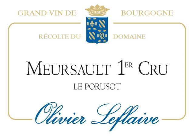 MEURSAULT 1er Cru Le Porusot Domaine 2019