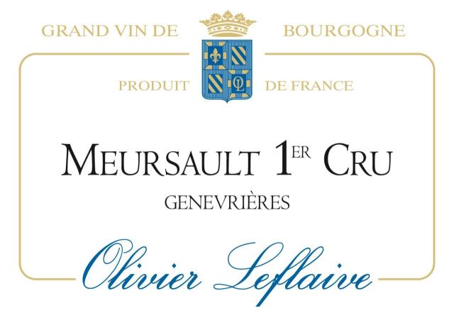 MEURSAULT 1er Cru Genevrières 2018