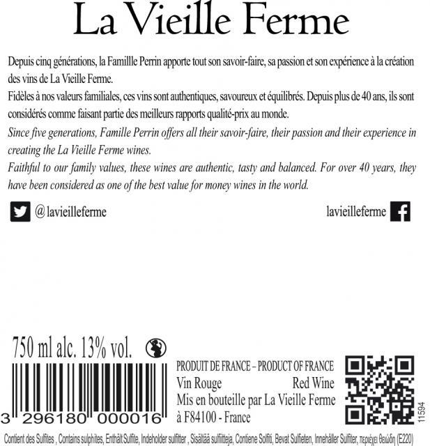 La Vieille Ferme Rouge VDF 13_ 750 ML UE 11594