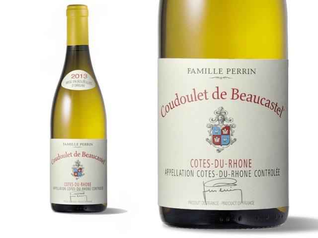 Bouteille et Etiquette Coudoulet Blanc 2013