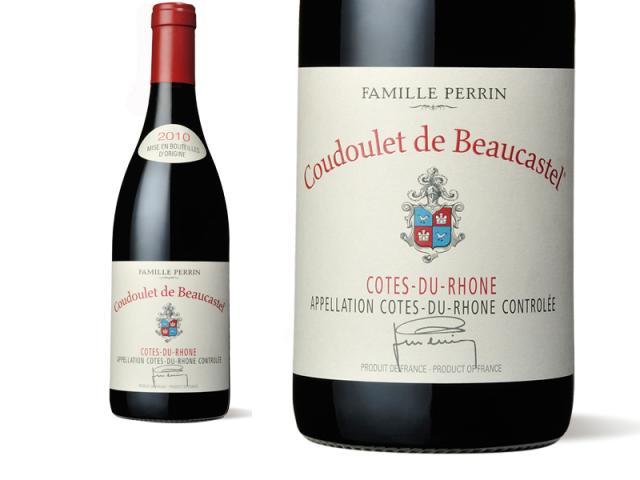 Bouteille et Etiquette Coudoulet Rouge 2010