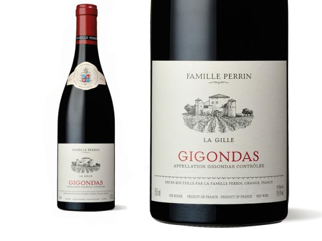 Bouteille et étiquette Gigondas La Gille 2011