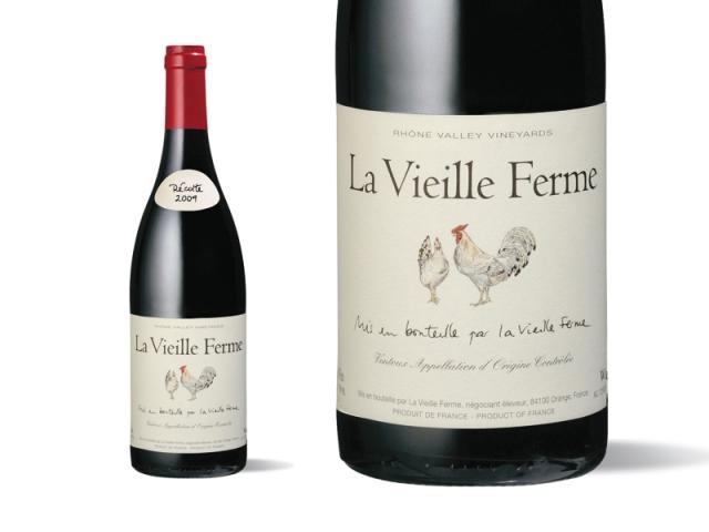 Bouteille et Etiquette La Vieille Ferme Rouge 2009