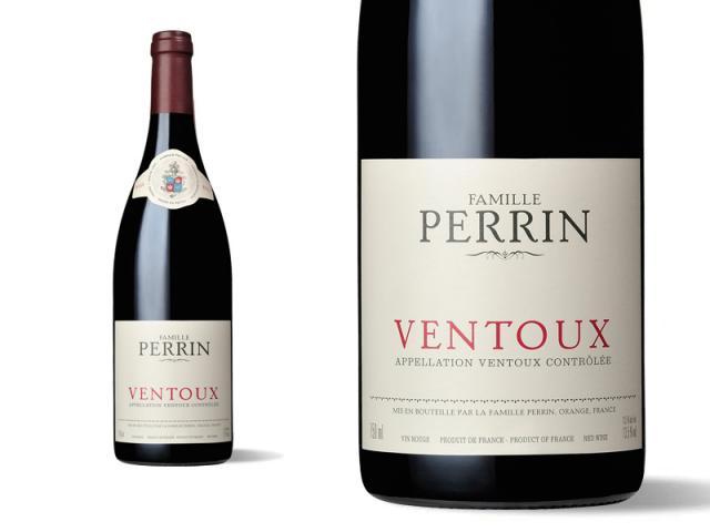 Bouteille et Etiquette Perrin Ventoux 2011