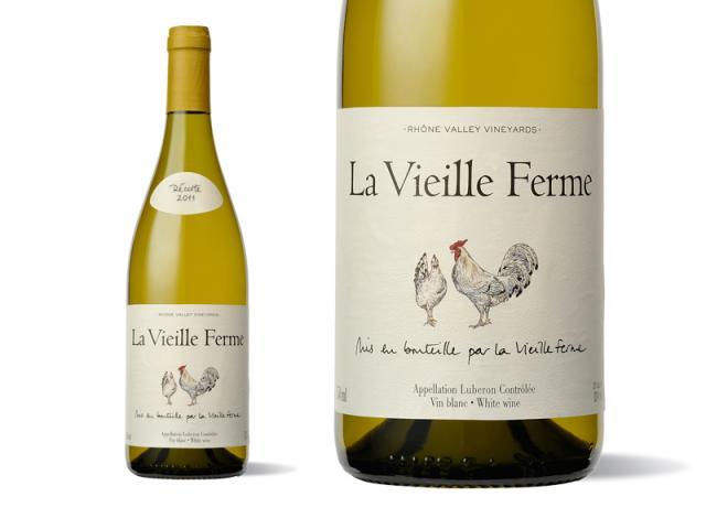 Bouteille et Etiquett La Vieille Ferme Blanc 2011