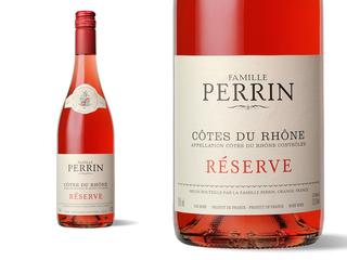 Bouteille et Etiquett Perrin Réserve Rosé 2011