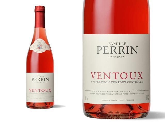Etiquette et Bouteille Perrin Ventoux Rosé 2011