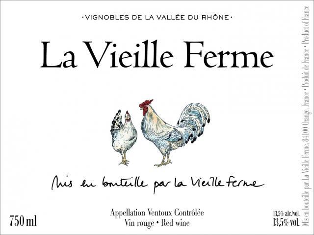 Etiquette La Vieille Ferme Rouge FR