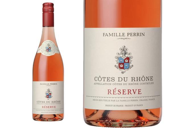 Perrin Réserve Rosé 2018 macro vis
