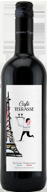 Café Terrasse Rouge, IGP Méditerranée, Rouge, 2019