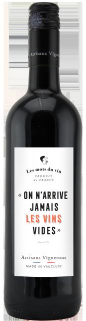Les Mots du Vin Rouge, IGP Vaucluse, Rouge, 2018