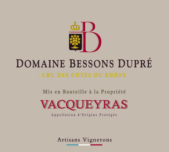 ET   Domaine Bessons Dupré AOP Vacqueyras Rouge