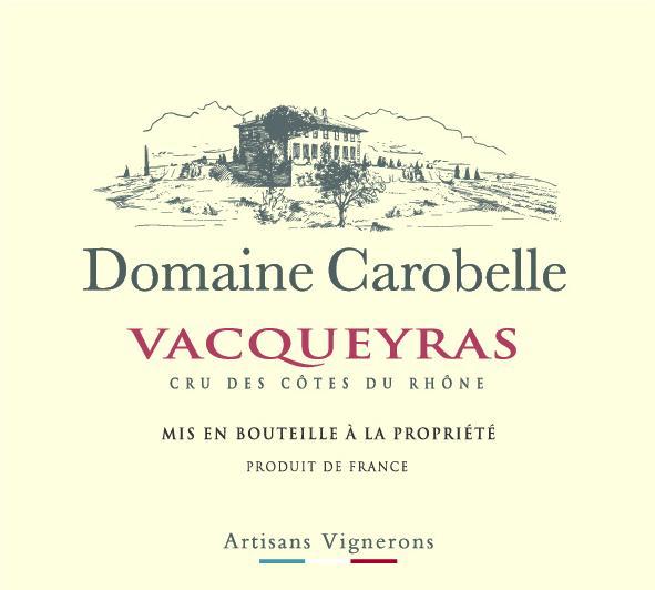 ET   Domaine Carobelle AOP Vacqueyras Rouge