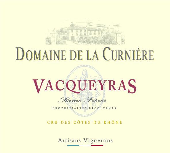 ET   Domaine de la Curnière AOP Vacqueyras Rouge