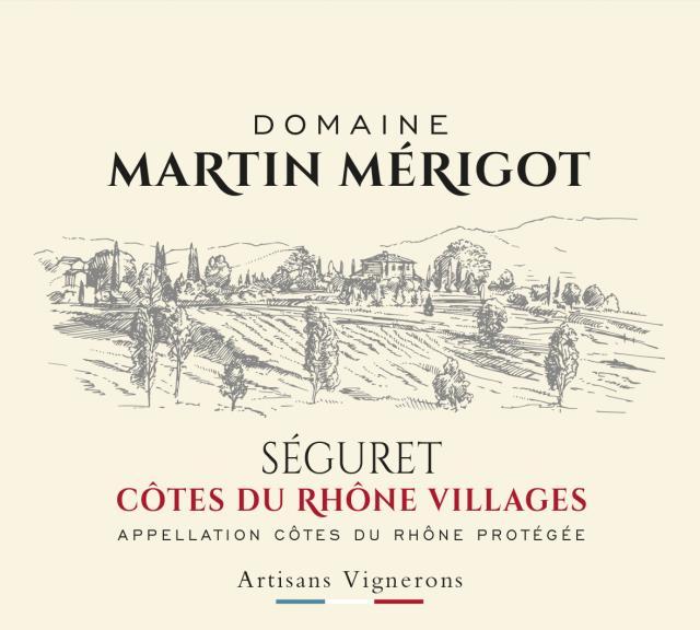 ET   Domaine Martin Mérigot AOP Côtes du Rhône Villages Séguret Rouge