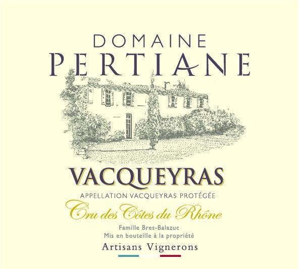 ET   Domaine Pertiane AOC Vacqueyras Rouge